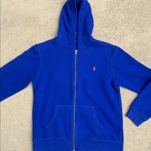 Polo by Ralph Lauren Shirts & Tops - Polo Royal Blue Hooded Sweat jacket, XL